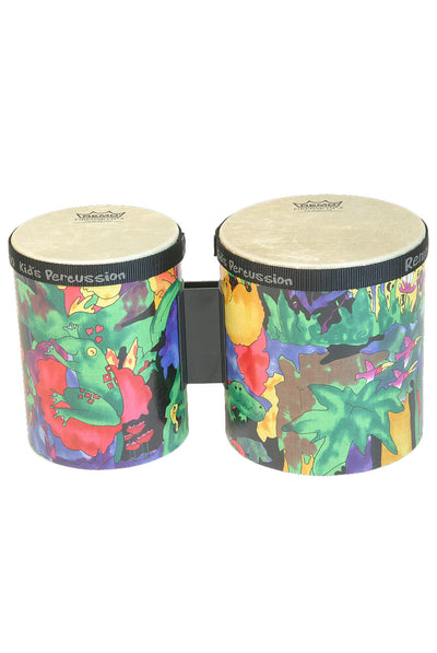 "Remo Kids Percussion Bongos 5"" & 6"" - Rain Forest - KIDS PERCUSSION by Remo - KD-5400-01"
