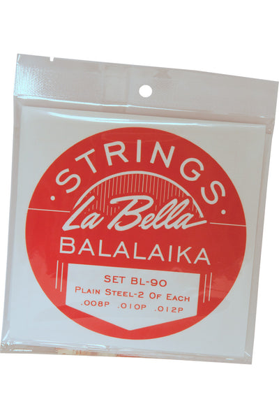 La Bella Balalaika Steel 6-String Set - Loop End - Balalaika Accessories - LBSBLLK