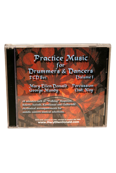 Practice Music for Drummers and Dancers CD Volume 1 by Mary Ellen Donald - Doumbek Instruction - LDPM1