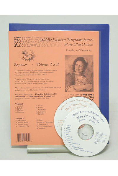 Middle Eastern Rhythms Series Beginner CDs by Mary Ellen Donald - Doumbek Instruction - LDRSB