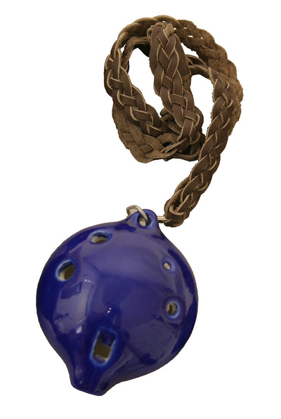 DOBANI Alto Ocarina with Braided Necklace A4 - Blue - Ocarinas - ONMG