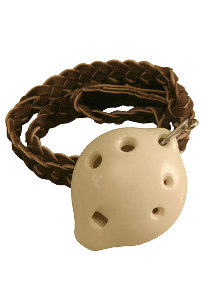 DOBANI Soprano Ocarina with Braided Necklace D5 - White - Ocarinas - ONSD-W
