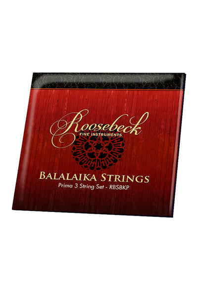 Roosebeck Prima Balalaika String Set with 1 Ball-End Steel and 2 Straight-End Titanium Strings - Balalaika Accessories - RBSBKP