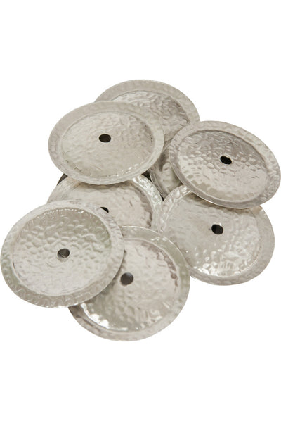 Mid-East White Copper Jingles 10-Count - Tambourine Accessories - TAMWC10