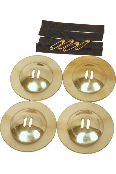"Mid-East Medium Size Solid Brass Rim Edge Finger Cymbals 2.4"" - Finger Cymbals - ZRMN"