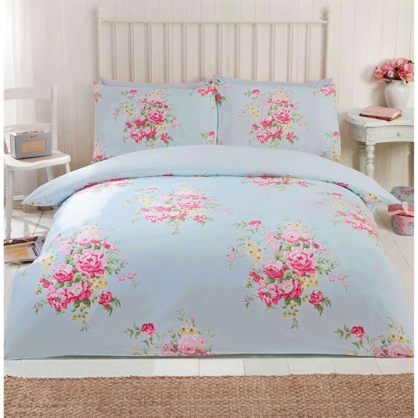 bed floral comforter quilt queen white home size vintage amazon dp comforters com brandream set beige kitchen