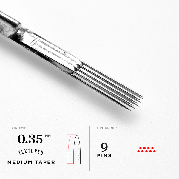 Medium Taper Curved Magnum Tattoo Needles