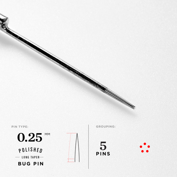 Straight Bugpin Liner Tattoo Needles