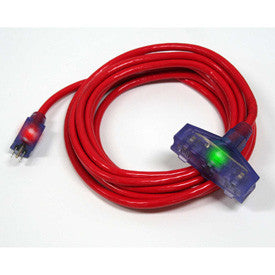 Century Wire Pro Glo Triple Tap 100 ft. Extension Cord (Red)