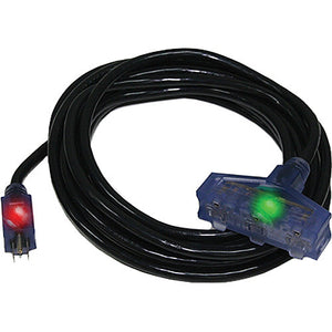 Century Wire Pro Glo Triple Tap 100 ft. Extension Cord (Black)