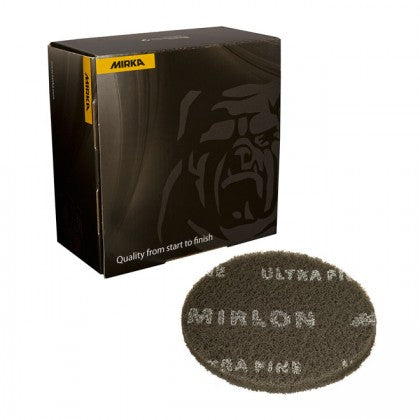 Mirka Mirlon 6 in. Ultra Fine Scuff Disc, Gray, 10 pk.