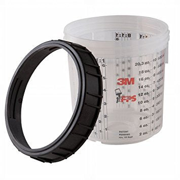 3M™ PPS™ Mixing Cup and Collar, Standard, 22 oz. 2 pk.