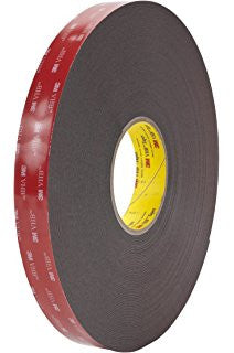 3M™ VHB Heavy Duty Mounting Tape 5952 Black, 3/4 in. x 15 yd. 45 mil