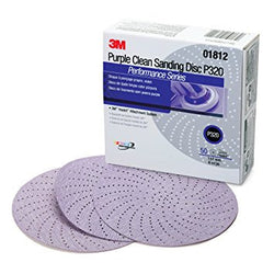 3M™ Purple Clean Sanding Hookit™ Disc 334U 6 in. P320 Grit, 50 pk.Liquid error (product-grid-item line 33): comparison of String with 0 failed