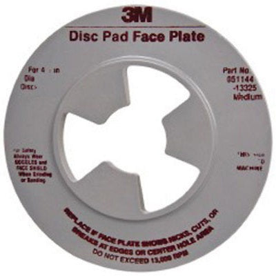 3M™ Disc Pad Face Plate Ribbed, 5 in. Medium Gray