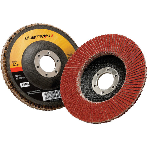 3M™ Cubitron™ II Flap Disc 967A, T29, 40 Grit, 4 1/2 in. x 7/8 in.Liquid error (line 13): comparison of String with 0 failed