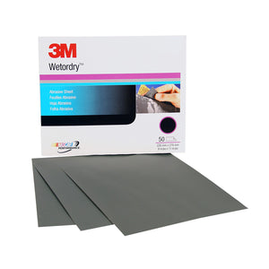 3M™ Wetordry™ Sheet 800 Grit 9 x 11 in. 50 pk. (1 Sleeve)
