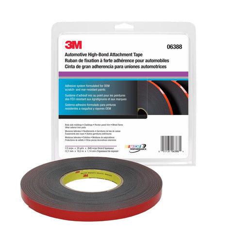 3M™ Automotive Acrylic Plus Premium Attachment Tape, 1/2 in. x 20 yards, 45 mil