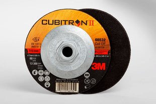 3M™ Cubitron™ II Cut-Off Wheel Quick Change, T27 4-1/2 in. x .09 in. x 5/8-11 in. 25 pk.