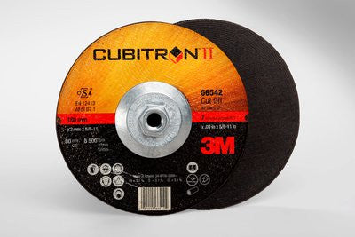 3M™ Cubitron™ II Cut-Off Wheel Quick Change, T27 7 in. x .09 in. x 5/8-11 in. 25 pk.