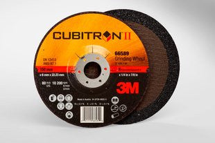 3M™ Cubitron™ II Depressed Center Grinding Wheel T27, 6 in. x 1/4 in. x 7/8 in. 25 pk.