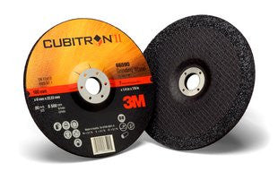 3M™ Cubitron™ II Depressed Center Grinding Wheel T27, 7 in. x 1/4 in. x 7/8 in. 25 pk.