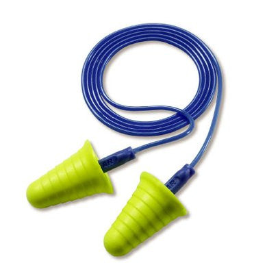 3M™ E-A-R™ Push-Ins™ with Grip Rings Corded Earplugs 318-1009, in Poly Bag, 2000 Pairs