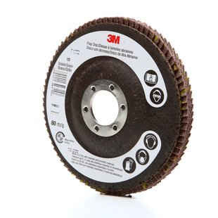 3M™ Flap Disc 747D, T27 4-1/2 in. x 7/8 in. 60 Grit, 10 pk.