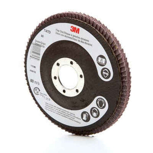 3M™ Flap Disc 747D, T27 4-1/2 in. x 7/8 in. 80 Grit, 10 pk.