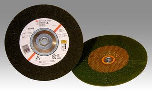 3M™ Green Corps™ Depressed Center Wheel, 7 in. x 1/4 in. x 5/8-11 Internal, 36 Grit, 10 pk.