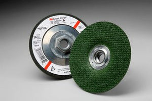 3M™ Green Corps™ Flexible Grinding Wheel, 4-1/2 in. x 1/8 in. x 5/8-11 Internal, 36 Grit, 10 pk.