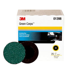 3M™ Green Corps™ Roloc™ Disc 264F, 2 in. 24 Grit, 25 pk.Liquid error (product-grid-item line 33): comparison of String with 0 failed
