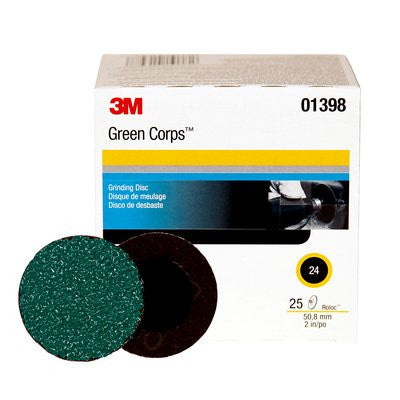 3M™ Green Corps™ Roloc™ Disc 264F, 2 in. 24 Grit, 25 pk.