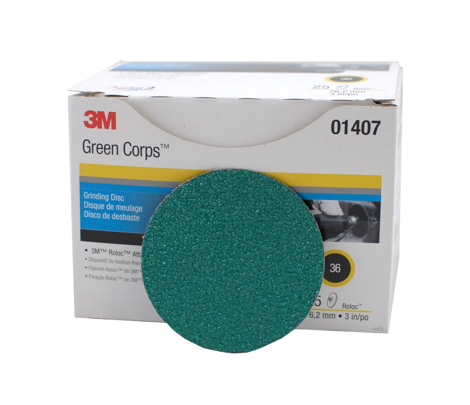 3M™ Green Corps™ Roloc™ Disc 264F, 3 in. 36 Grit, 25 pk.