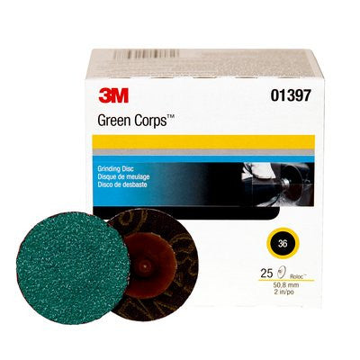 3M™ Green Corps™ Roloc™ Disc 264F, 2 in. 36 Grit, 25 pk.
