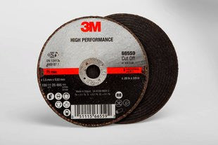 3M™ High Performance Cut-Off Wheel T1, 3 in. x .06 in. x 3/8 in. 25 pk.