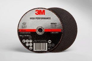 3M™ High Performance Cut-Off Wheel T1, 4 in. x .06 in. x 3/8 in. 25 pk.