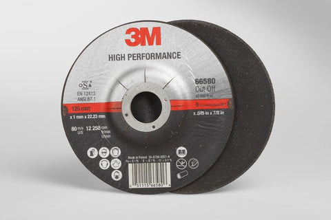 3M™ High Performance Cut-Off Wheel T27, 5 in. x .045 in. x 7/8 in. 25 pk.