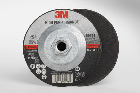 3M™ High Performance Cut-Off Wheel T27 Quick Change, 4-1/2 in. x .045 in x 5/8-11 in. 25 pk.