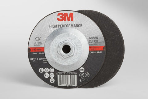 3M™ High Performance Cut-Off Wheel T27 Quick Change, 7 in. x .09 in. x 5/8-11 in. 25 pk.