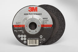 3M™ High Performance Depressed Center Grinding Wheel T27 Quick Change, 4-1/2 in. x 1/4 in. x 5/8-11 in. 25 pk.Liquid error (product-grid-item line 33): comparison of String with 0 failed