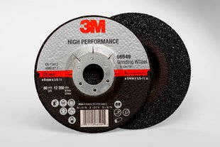3M™ High Performance Depressed Center Grinding Wheel T27 Quick Change, 5 in. x 1/4 in. x 5/8-11 in. 25 pk.