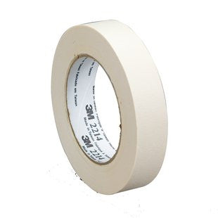 3M™ Paper Masking Tape 2214 Tan, 48 mm x 55 m 5.4 mil, 24 pk.