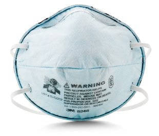 3M™ Particulate Respirator, R95, with Nuisance Level Acid Gas Relief, 120 pk.