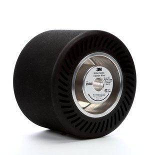 3M™ Rubber Slotted Expander Wheel, 5 in. x 3-1/2 in. 5/8 in. Arbor Hole