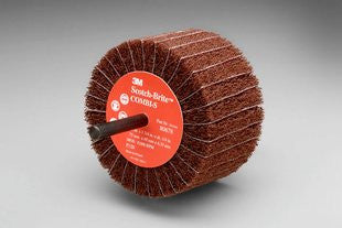 3M™ Scotch-Brite™ Combi-S Wheel, 3 in. x 1-3/4 in. 1/4 in. Shank, 80 Grit, 10 pk.