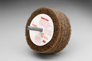3M™ Scotch-Brite™ Cut and Polish Disc D5, 3 in. x 1-1/4 in. x 1/4 in. A, Medium, 10 pk.