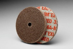 3M™ Scotch-Brite™ EXL Unitized Wheel, 3 in. x 1/4 in. x 3/8 in. 6A Medium, 40 pk.