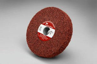 3M™ Scotch-Brite™ Metal Finishing Wheel, 6 in. x 1 in. x 1 in. 5A Medium, 3 pk.