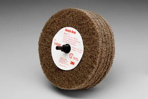 3M™ Scotch-Brite™ Roloc™ Cut and Polish Disc D5, 4 in. x 1-1/4 in. A, Medium, 10 pk.
